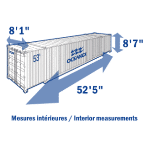 Conteneurs et remorques oceanex for Container isole